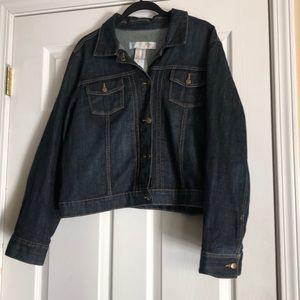 Ladies xxl blue jean jacket